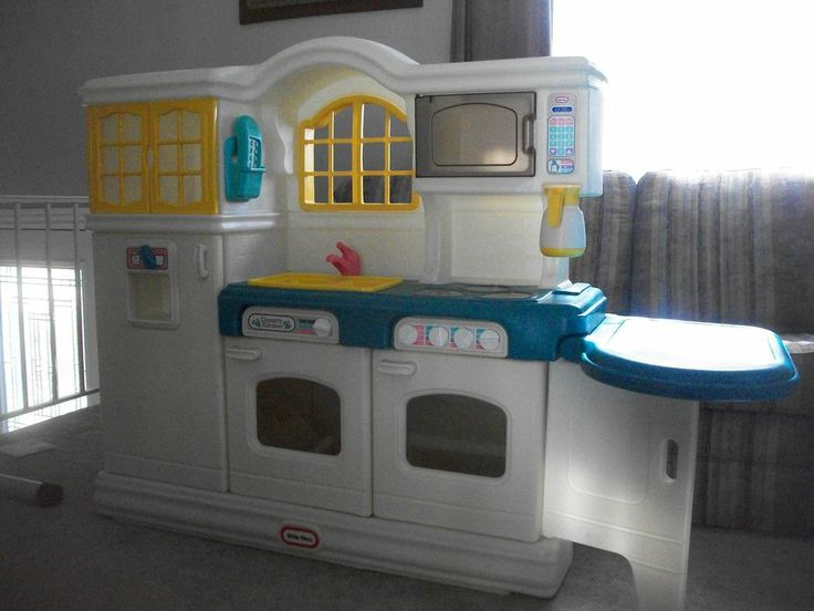 play kitchens for kids beige kitchen cabinets hard to find very rare little tikes tykes country ...