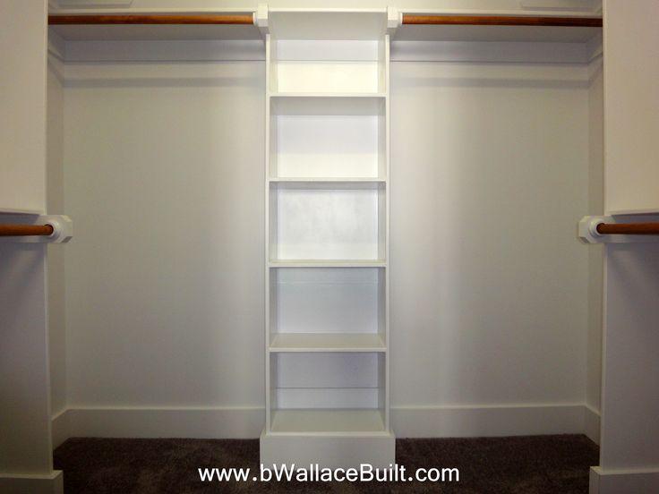 Custom wood closet shelving