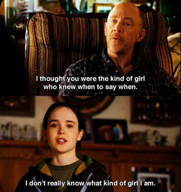 Image result for Ellen Page Juno Quotes.I don't know what type of girl I am
