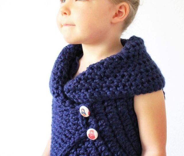 Crochet Toddler Sweater Vest Pattern