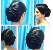 rose bridal hairstyle updo hair