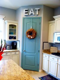 Painted pantry door $10 project. Benjamin Moore Azores ...