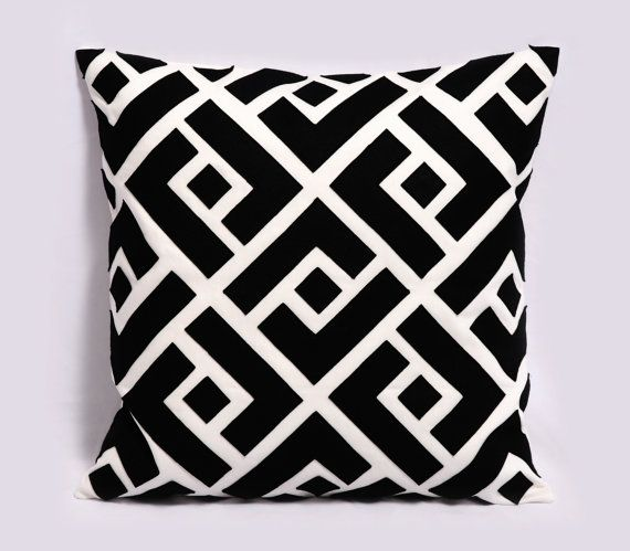 Lance Black White And Gray Throw Pillow Cover Decorative