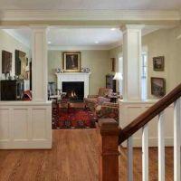 Knee wall and pillars | Family room | Pinterest | Wall ...