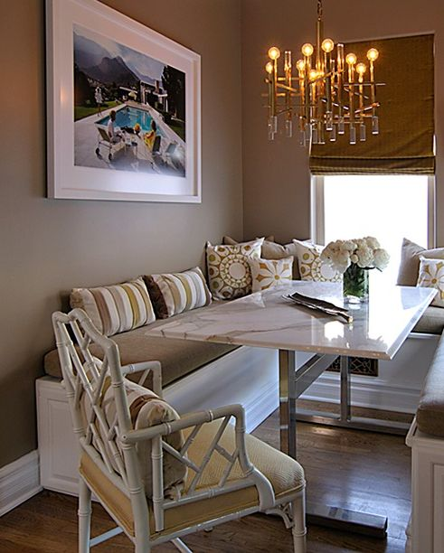 dining rooms  white faux bamboo chair yellow cushion