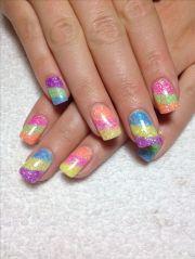 cally's beach ball nails gel nail