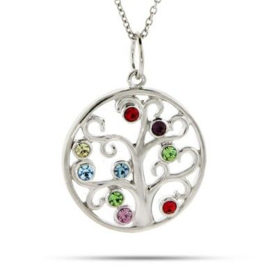 17 Best images about Family Tree Birthstone Necklace on