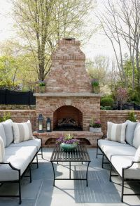 beautiful patio with fireplace   Morgan Harrison Home ...