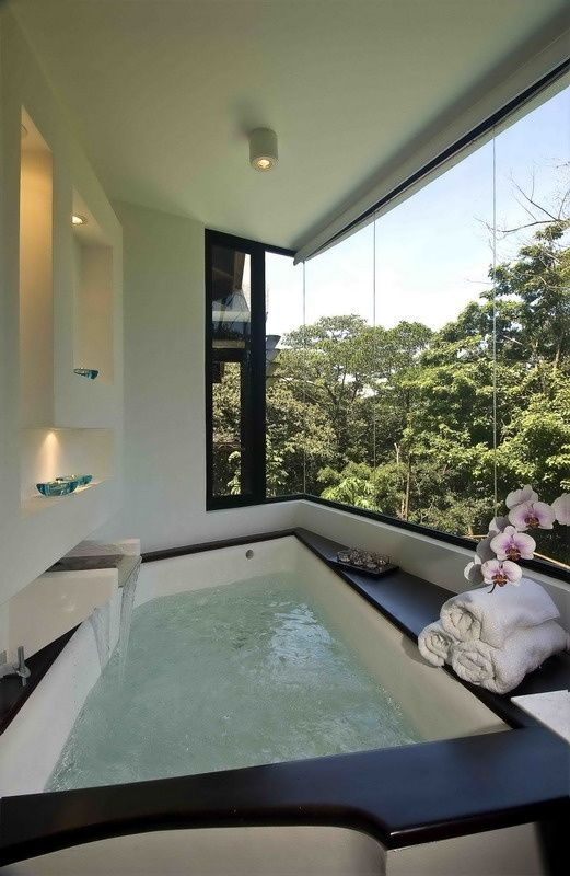 In-home oasis/spa, especially if there is a private view!  THIS is heaven