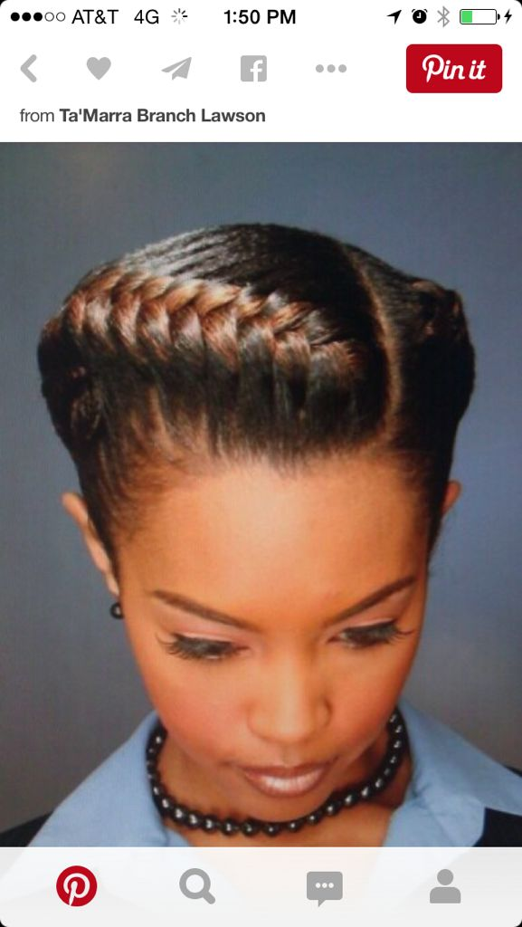 17 Best ideas about French Braids Black Hair on Pinterest
