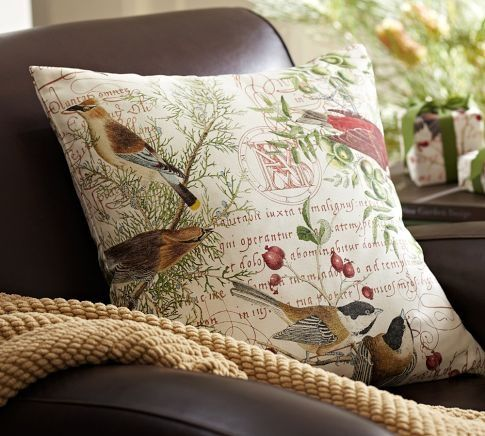 Winter Bird Pillow Cover