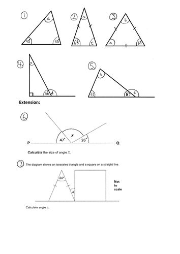 25+ best ideas about Angles in a triangle on Pinterest