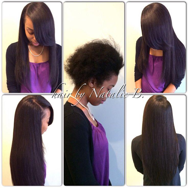 Beautiful BEFORE Amp AFTER FLAWLESS SEW IN HAIR WEAVES
