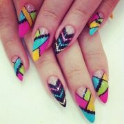 fan of pointed nails