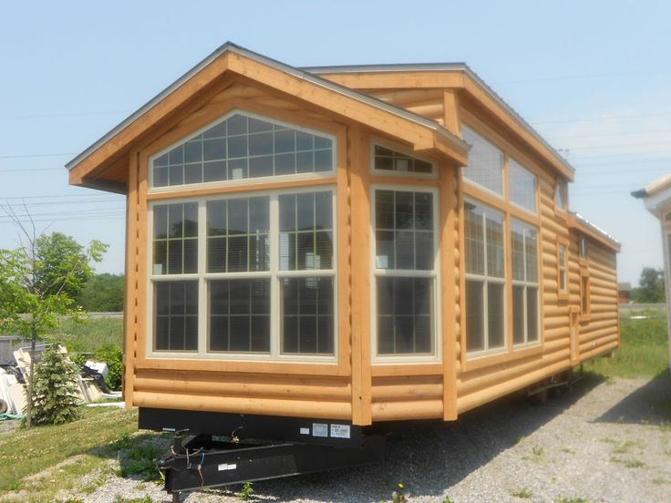 2012 Breckenridge log cabin model  Park Model Trailers  Pinterest  Tiny house Small cabins