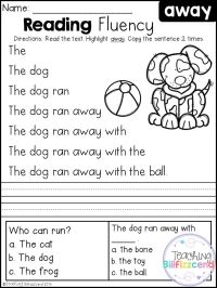 Free Kindergarten Reading Activities - free printable ...