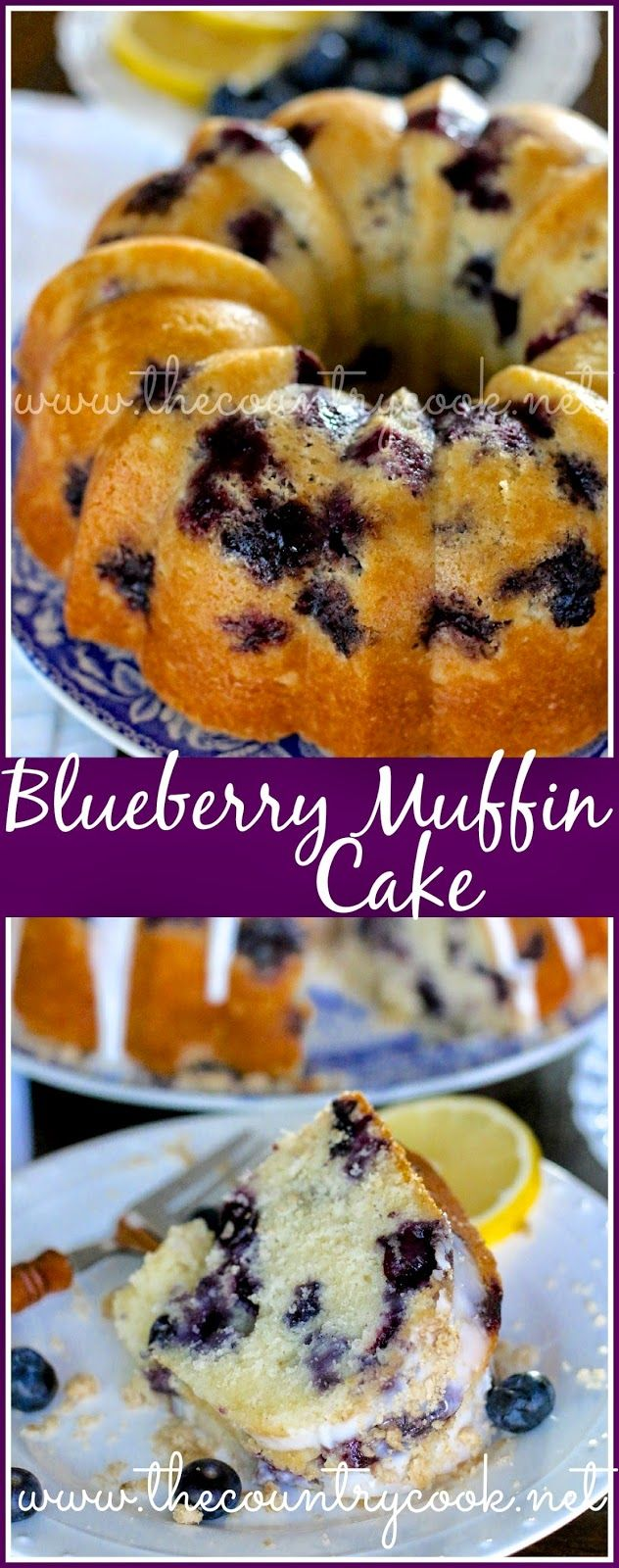 Blueberry Muffin Cake – one of THE BEST cakes Ive made in a long time. Homemade, moist & yummy with a hint of lemon – so good!