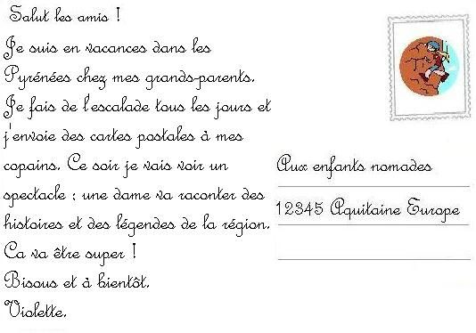exemple lettre postale