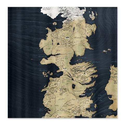 Game Of Thrones Map Shower Curtain Wish List Pinterest