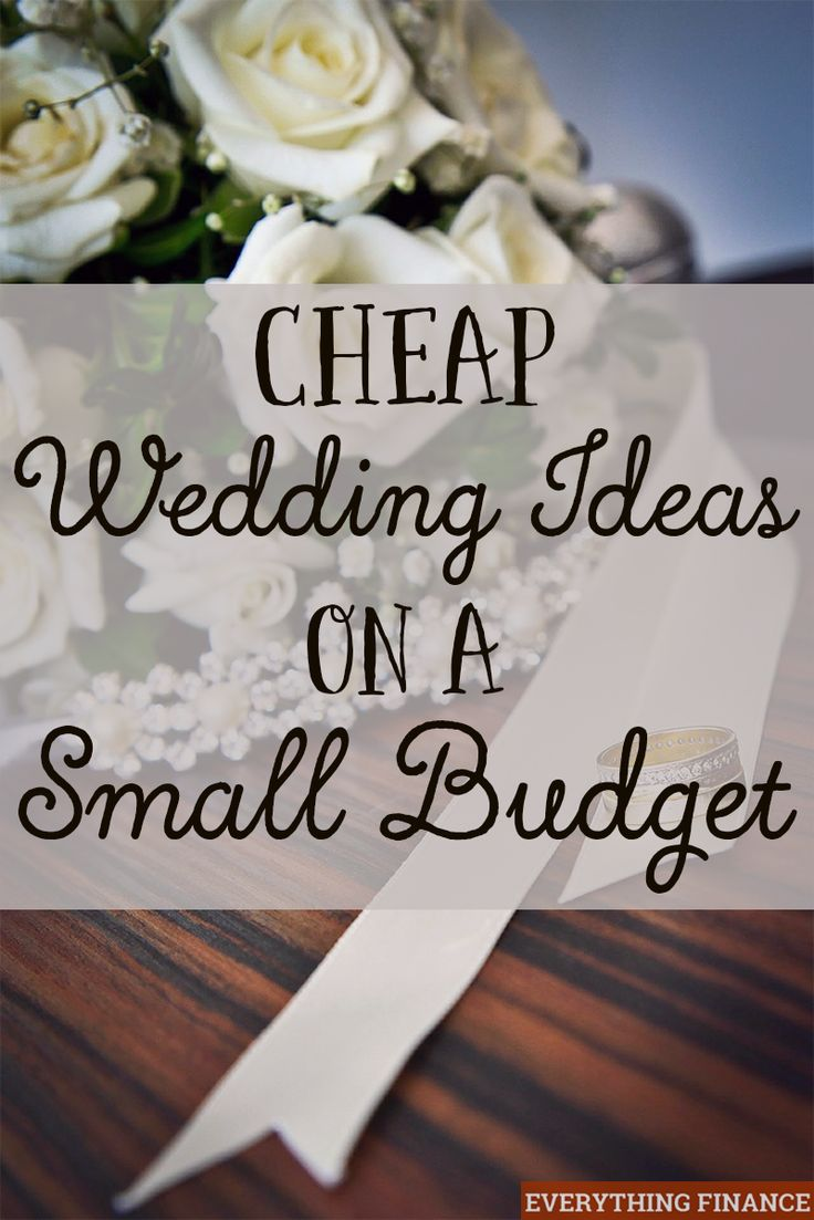 Cheap Wedding Ideas on a Small Budget  Receptions Wedding and Wedding ideas