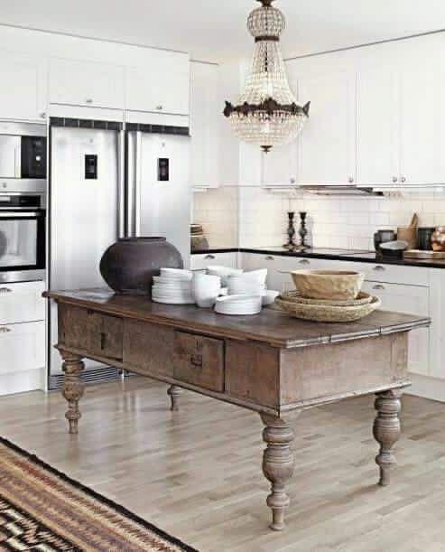 25 best ideas about Rustic kitchen island on Pinterest