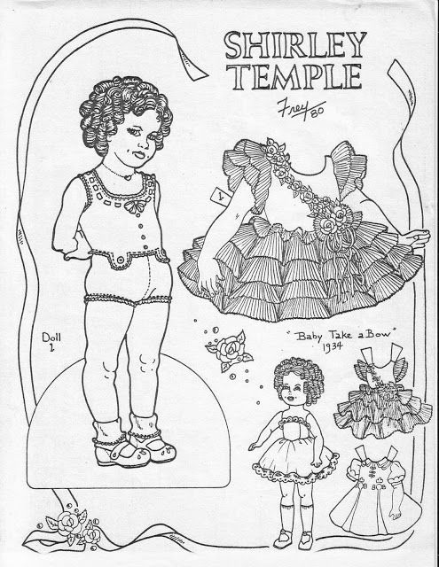 132 best images about shirley temple paper dolls on
