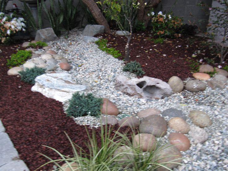 dry river beds rock garden ideas