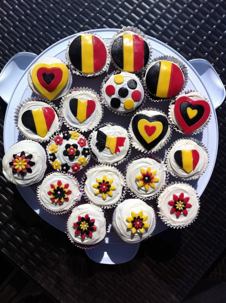 Belgium Themed Cupcakes For An Expat Party Cakes