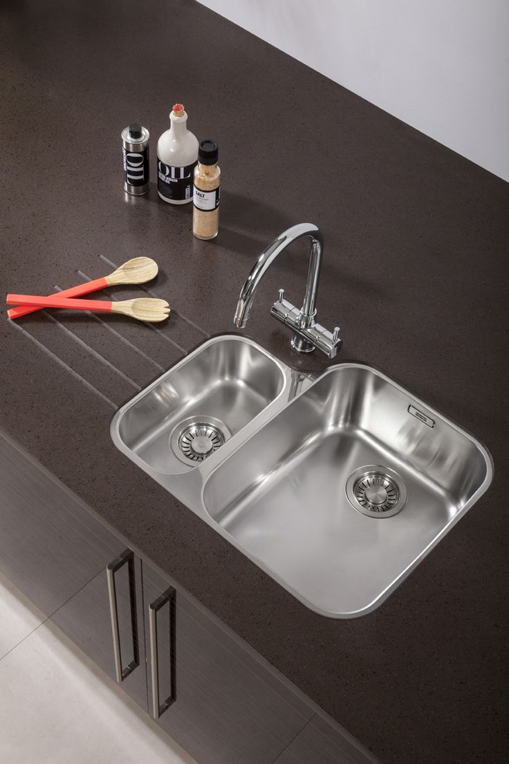 stainless steel undermount kitchen sink vintage accessories bushboard's encore solid surface in espresso glass shown ...