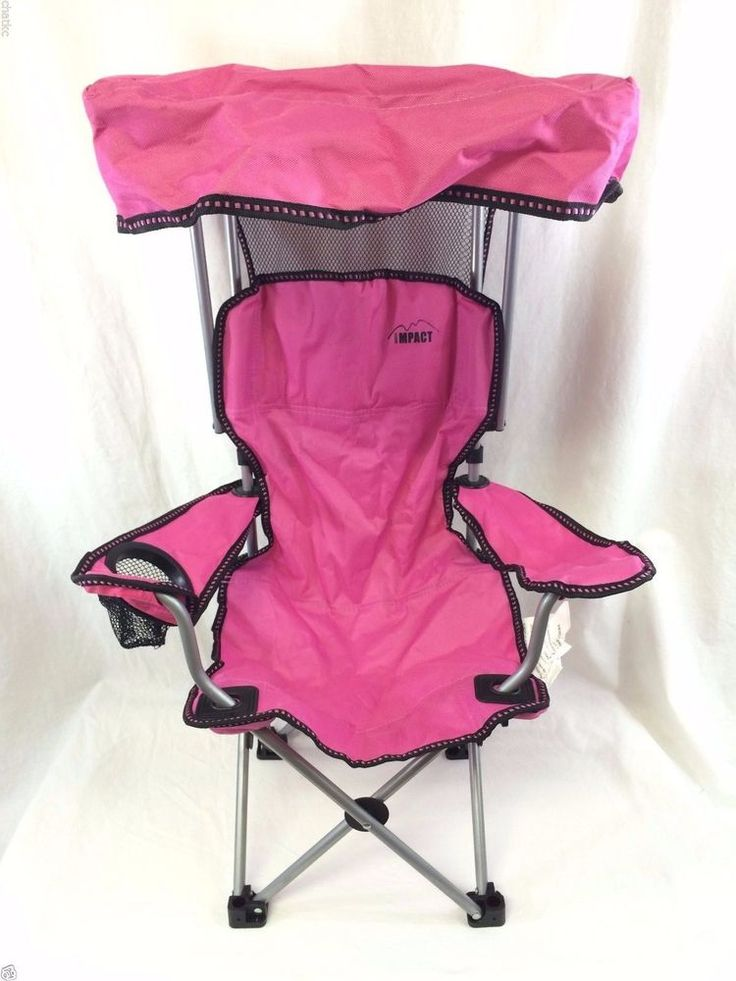 Pink Kids Canopy Lawn Chair By Impact Safety Lock