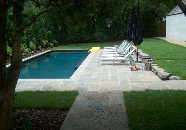 lap pool landscape garden