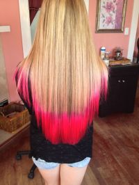 Atomic Pink Tips with Blonde Hair | Colored Tips ...