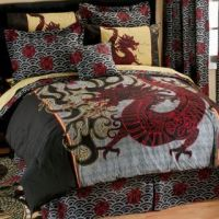Boy Girl ORIENTAL ASIAN DRAGON Full Comforter Sheet Bed in