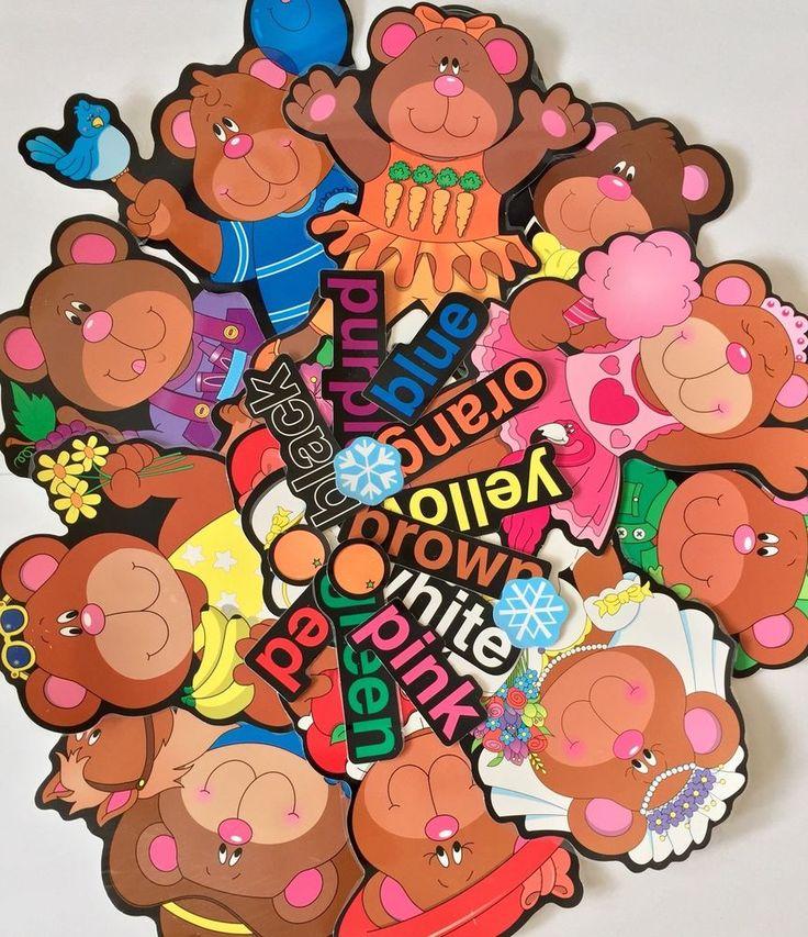 Vintage Carson Dellosa Color Bears Bulletin Board Set