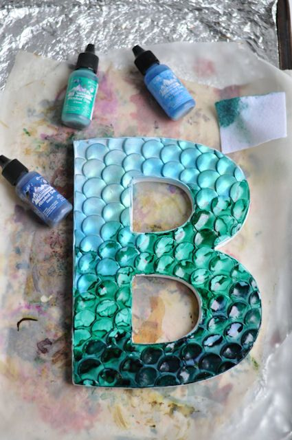 polymer decorated letters b