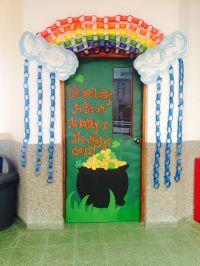 St. Patricks door. School door decoration. | School Doors ...