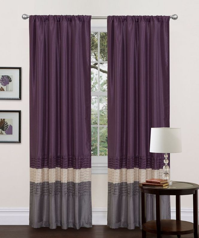 Gray Purple Mia Curtain Panel Set Of Two Wants These For My Next Bedroom