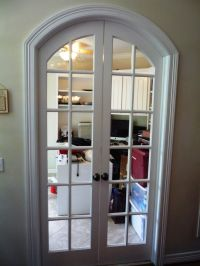 Custom arched French doors that we built to close off any ...