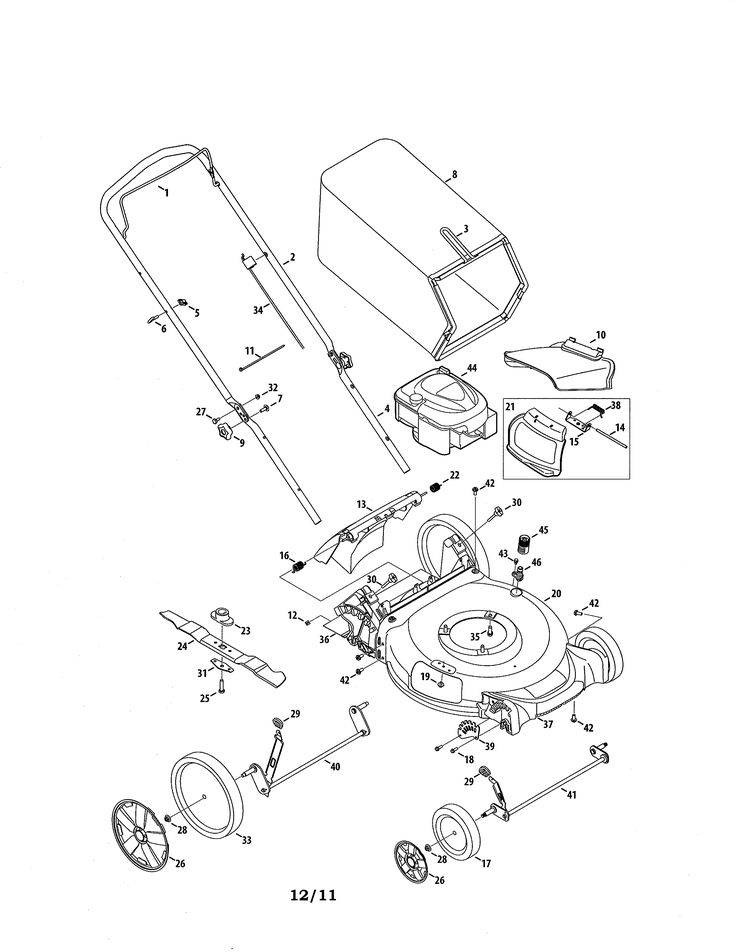 25+ best ideas about Craftsman lawn mower parts on