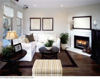 Art Small Interior : Living Room With Corner Fireplace