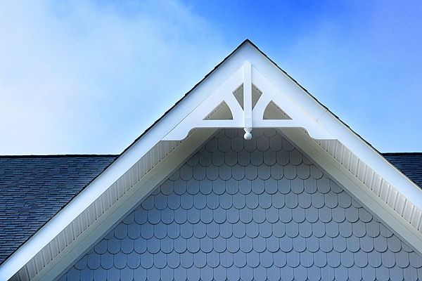 Architectural Detail Ornamental Gable And Scalloped