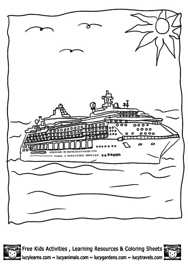 24 best images about Ship-coloring pages on Pinterest