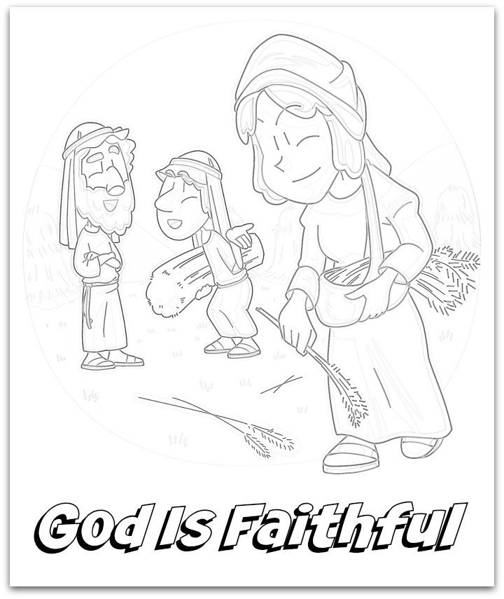 Naomi Ruth Boaz Coloring Page Coloring Pages