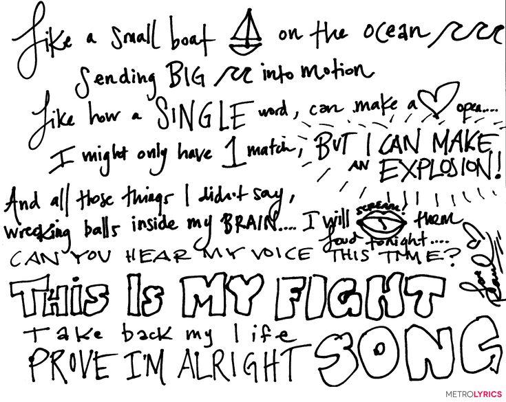 Fall Out Boy Wallpaper 2013 Enter To Win Handwritten Fightsong Lyrics From Rachel