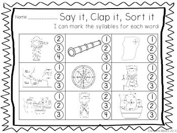 1000+ ideas about Syllables Kindergarten on Pinterest