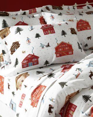 Nordic Village Flannel Bedding Christmas Pinterest