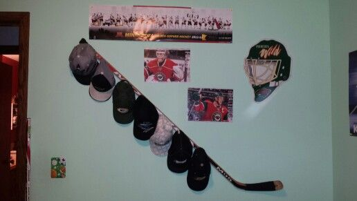 Hockey stick hat rack  cool things to make out of hockey
