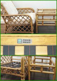 O N S A L E, Signed Ficks Reed Bamboo/Rattan Club Chair ...