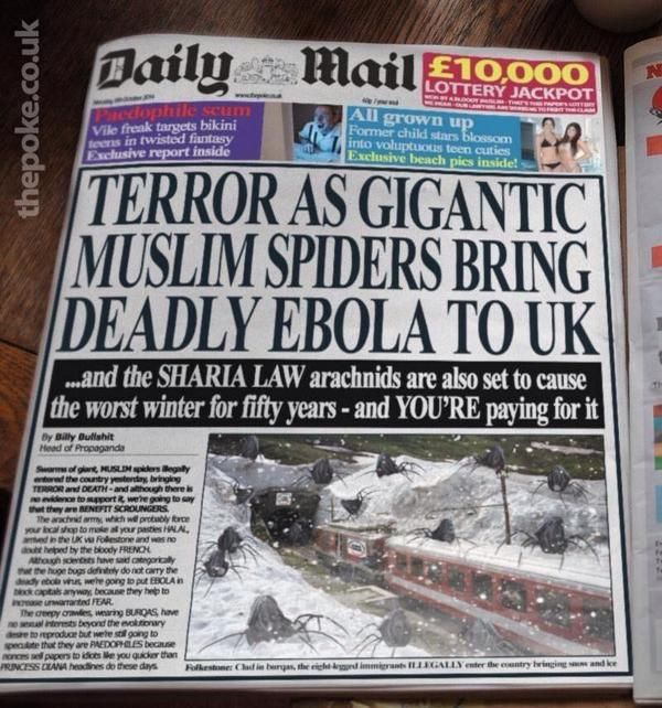 Terror as Gigantic Muslim Spiders Bring Deadly Ebola to