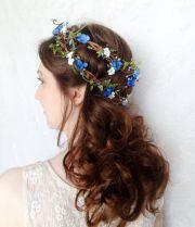 royal blue flower headpiece